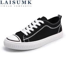 2018 <b>LAISUMK</b> New Canvas Shoes <b>Men</b> Casual Shoes Lace-up ...