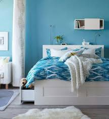 living ideas bedroom blue walls white furniture fur carpet blue and white furniture