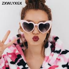 <b>Zxwlyxgx</b> 2018 New Fashion Love Heart Sunglasses Women Cute ...
