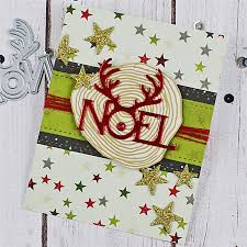 <b>DiyArts Christmas</b> Noel <b>Reindeer</b> Letter <b>Metal</b> Cutting Dies for ...