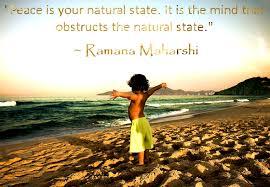 Selfless Being: Peace Quote ~ Ramana Maharshi via Relatably.com