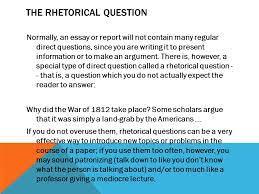 Rhetorical Question Essays        Anti Essays Language arts book report   FC