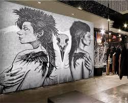 Online Shop <b>Beibehang Custom wallpaper</b> personality tattoo ...