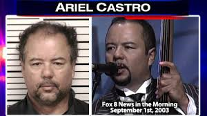 In court Thursday morning, a much different Ariel Castro: a scared 52-year-old man, hiding his face from media cameras, not saying a word. - ariel-castro_split-mug_morning