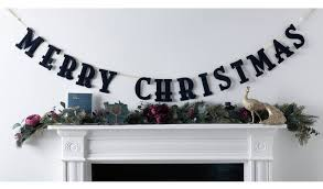 Buy Argos Home 2m Enchanted Christmas <b>Merry Christmas Garland</b> ...