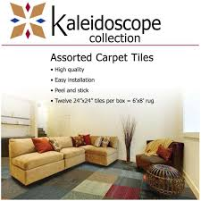 kaleidoscope collection multicolor assorted commercial 24 in x 24 in carpet tile 12 carpet tiles home