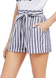 SweatyRocks Women's Casual Elastic Waist Striped <b>Summer Beach</b> ...