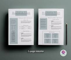 2 page resume template coverletter template by chic templates 2 page resume template coverletter template