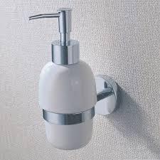 chrome brass pump soap dispenser