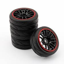 <b>4PCS RC</b> 1/10 Car On Road Wheel Rim <b>Rubber Tyre Tires</b> Fit HSP ...