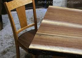 walnut cherry dining: solid hardwood dining table from slabs of kiln dried black walnut with mid century modern style