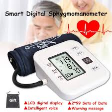 Portable Automatic <b>Digital</b> Upper <b>Arm</b> Blood Pressure Monitor Large ...