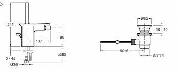 Jacob Delafon Stance E14763-CP — <b>Смеситель для биде Jacob</b> ...