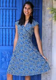 <b>Alice</b> Retro <b>Vintage Style</b> Cotton Dress Blue Lotus | Karma East ...