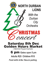 christmas concert north durban lions club christmas concert flyer