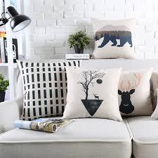 Nordic Style Decorative Cushion Covers Deer Bear <b>Geometry</b> ...
