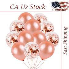 US <b>40pc</b> Rose <b>Gold</b> Confetti Balloons Latex Birthday Party Fairy ...