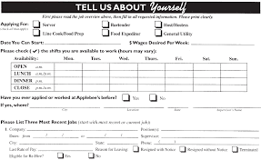 chick fil a job application form best business template applebee amp 039 s job application printable job employment forms in chick fil