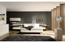 luxury bedroom with dark furniture
