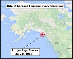 「lituya bay tsunami damage」の画像検索結果