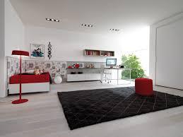 gray purple home office teen bedroom room design black shag rug home office