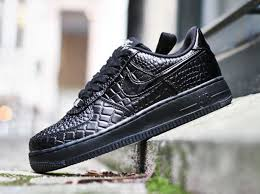 nike wmns air force 1 low black croc air force crocodile white