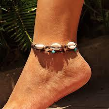 2019 <b>Handmade</b> Bohemia Shell Pendant Anklet For Women Girl ...