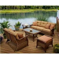 brown wicker outdoor furniture dresses: veranda agio  piece outdoor chat set with tan woven square coffee table with
