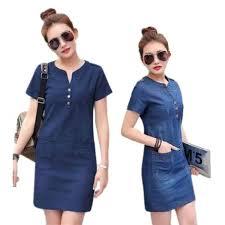 <b>Korean</b> fashion <b>denim dress</b> | Shopee Philippines