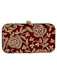 Jewelled Clutches: Shoes & Handbags - Amazon.in