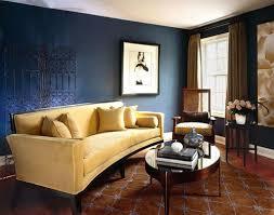 elegant blue living room walls for peaceful look cobalt blue wall color with brown printed rug blue walls brown furniture