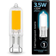 Лампа <b>Gauss</b> 107809203 LED G9 3.5W 4100K Glass - интернет ...