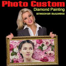 HOMFUN <b>5D DIY Алмазная</b> картина фото на заказ картина ...