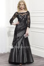 Bateau <b>Lace Appliques</b> Illusion <b>Long Sleeve</b> Dress With Low-V Back ...