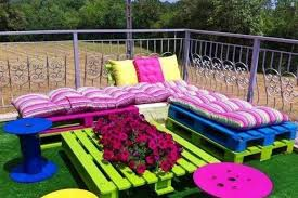 outside furniture made from pallets. garden furniture made from cable drums and wood pallets actually doesnu0027t look so bad photo huffpost outside