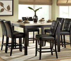 Tall Dining Room Chairs Black Round Dining Table And Chairs Fabulous Black Round Dining