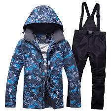 NEW <b>Ski Suit Men Sets</b> Super Warm Thicken Waterproof Windproof ...