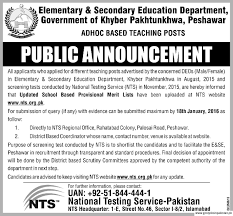 industries commerce technical education department job vice elementary secondary education department job peshawar adhoc based teaching posts