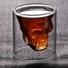 Exquisite Crystal <b>Glass Skull</b> Head Style Vodka Wine Shot Glass ...