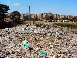 waste management matharevalley waste field in mathare north