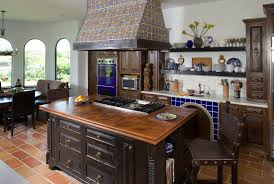mediterranean furniture style kitchen mediterranean with accent tiles barstools black apothecary style furniture patio