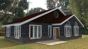 Elegant Three Bedroom Bungalow House Plan   David Chola   Architect    bedroom bungalow plan Kenyan architect