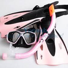 Kids Children Snorkeling Swimming Snorkeling Mask Snorkel Fins ...