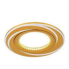 <b>Светильник Gauss Aluminium AL015</b> Круг. Золото Хром, Gu5.3 ...