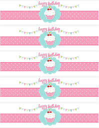 cupcake themed birthday party printables party printable water bottle labels template cupcake themed birthday party printables