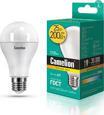 <b>Лампочка Camelion</b> 13571, Теплый свет, <b>E27</b>, 20 Вт, Светодиодная