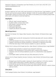 personal injury legal assistant resume sample    sample resume legal assistant experience professional paralegal professional profile resume templates personal injury legal assistant summary highlights