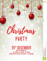 christmas party flyer glass and red balls stock vector christmas party flyer glass and red balls