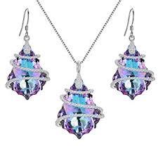 Amazon.com: EVER FAITH 925 Sterling Silver <b>CZ</b> Baroque Pendant ...