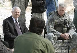 photo essay 15 years of war warrior scout then us secretary of defense robert gates left and us army general david mckiernan the top us and nato commander in right listen to afghan